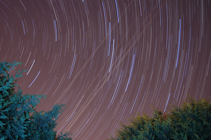 GIMP Star trail